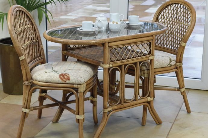 Bistro Cane Dining Furniture Bistro Set Indoor Rattan Chair Outdoor Furniture Sets