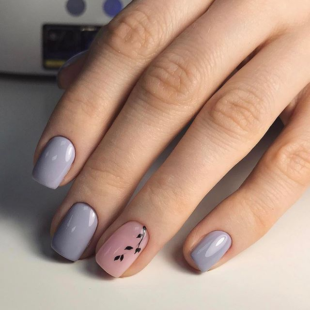 Grey & nude, beautiful and simple nail design.... Love it! | nails ...
