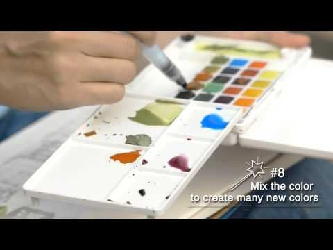 Sakura How To Paint With Koi Water Colors Pocket Field Sketch