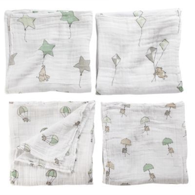 Aden And Anais Swaddle Blankets Magnificent It's A Wrap Swaddling Blanket Set Parachutes  The Land Of Nod Design Ideas