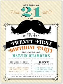 mustache invitation - Mustache Party Invitations
