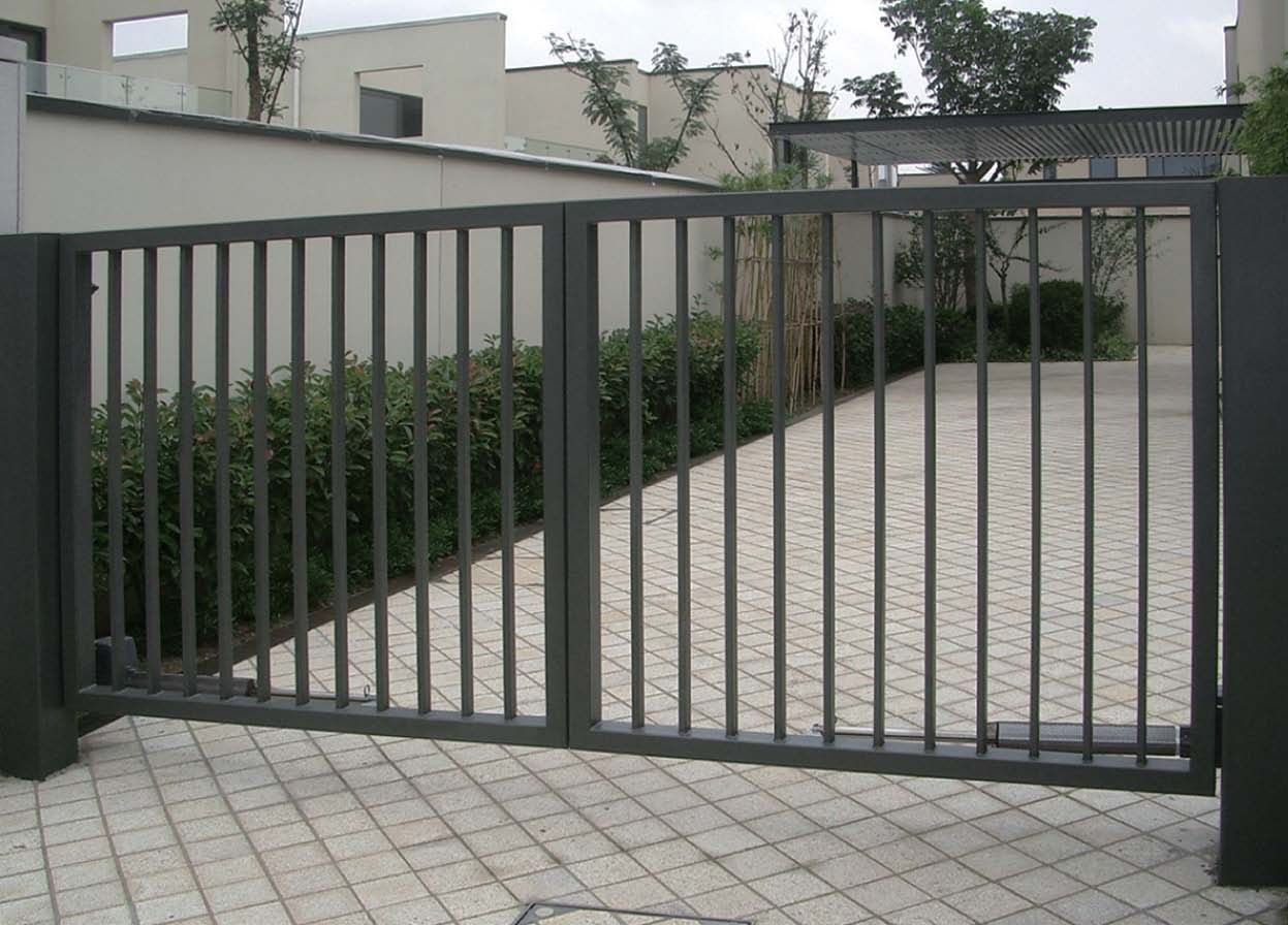 Comfortable metal fence gate designs 3 iron sliding gates for Simple fence plans