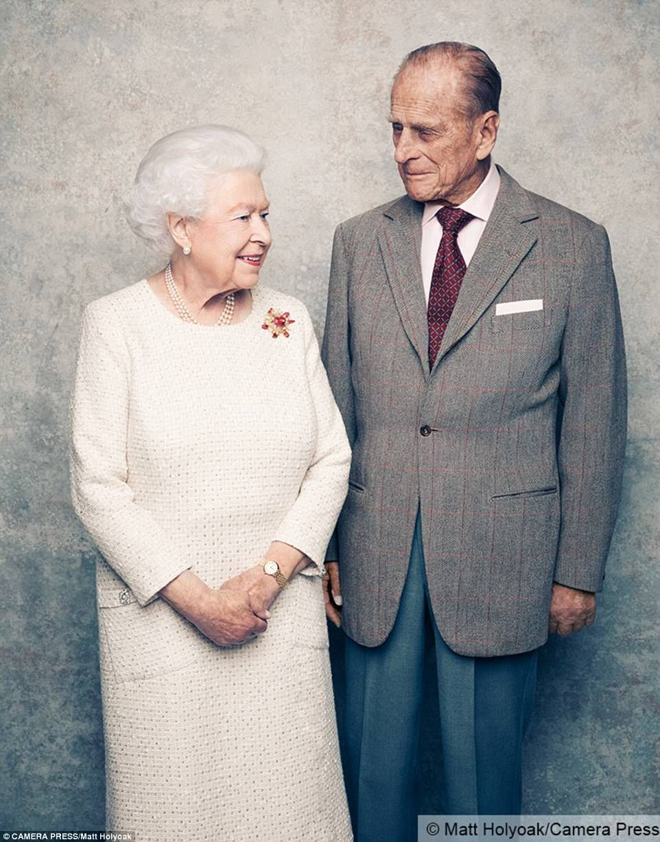 Anniversary portraits of queen and prince philip released queens