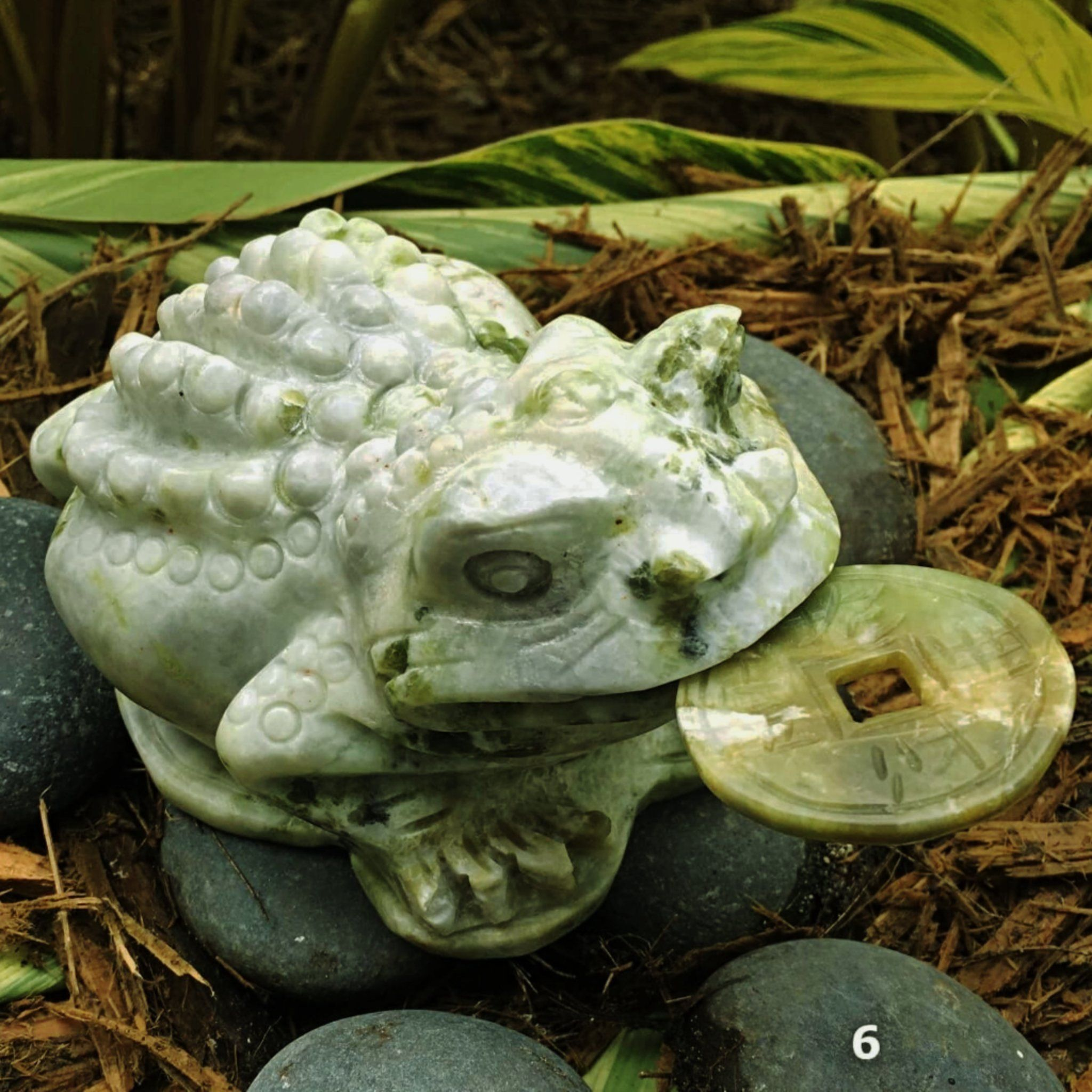 Jade Prosperity Frog Feng Shui Prosperity Symbol New Earth Gifts