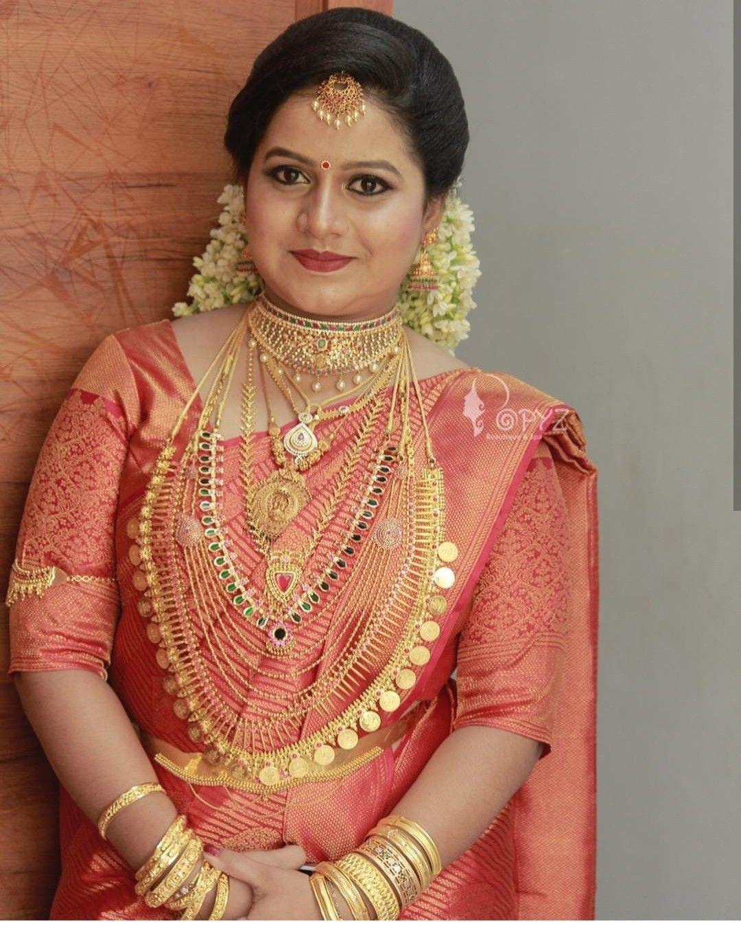 Pin By Arsha Arun On Meti Ke Kushboo Bridal Jewellery Indian Kerala Wedding Saree Wedding Saree Collection