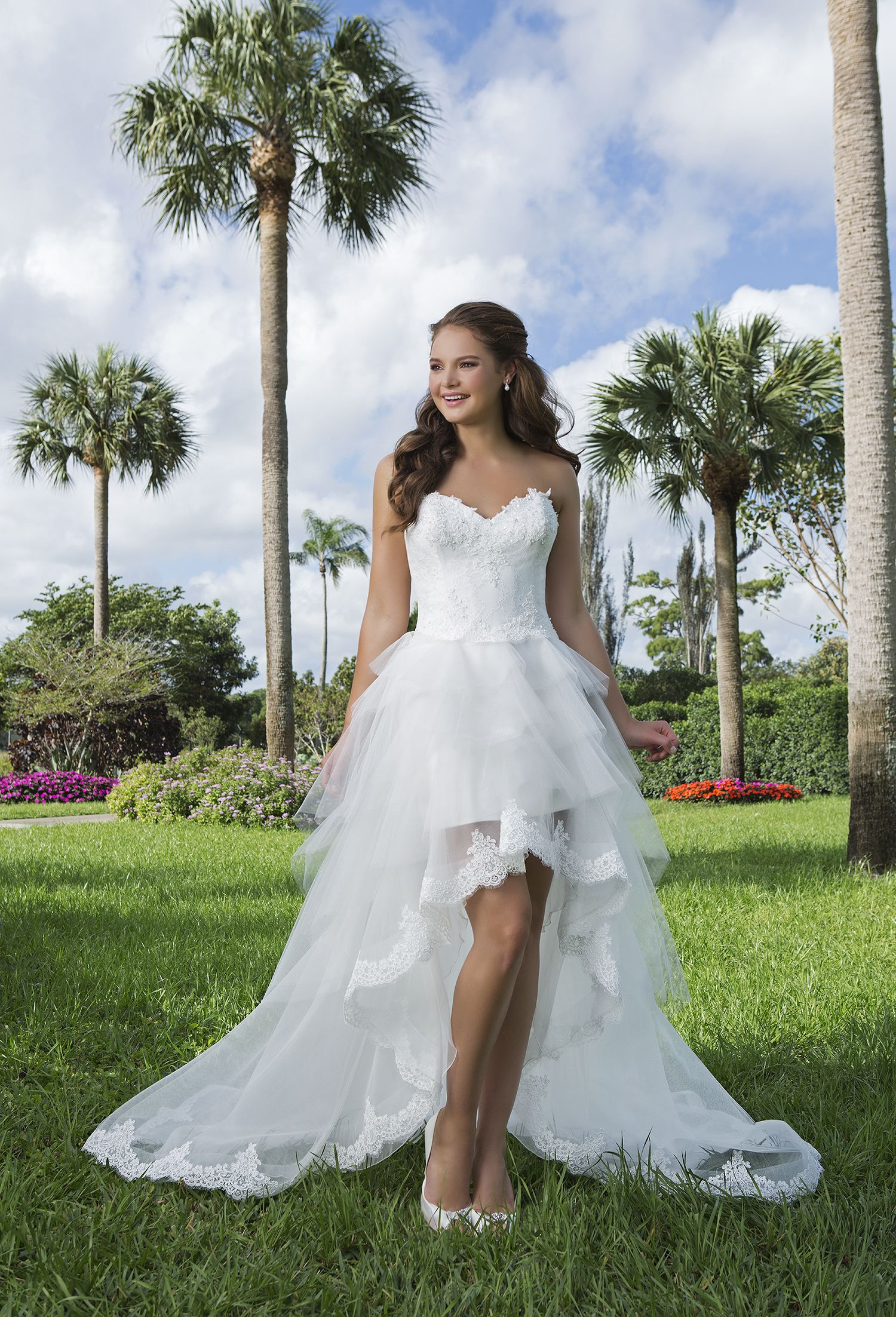 Country high low wedding dresses  The flirty  Sweetheart wedding dress collection  country