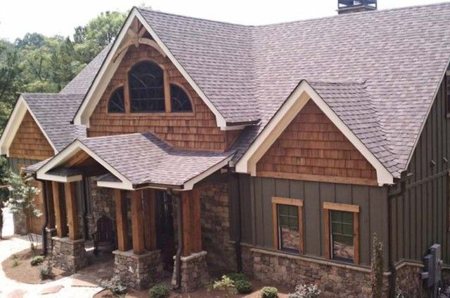 Board And Batten With Cedar Shake Siding For The Home In