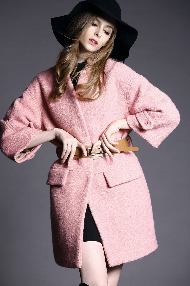 Material:Wool, Polyester Color: Pink Size: S/M/L