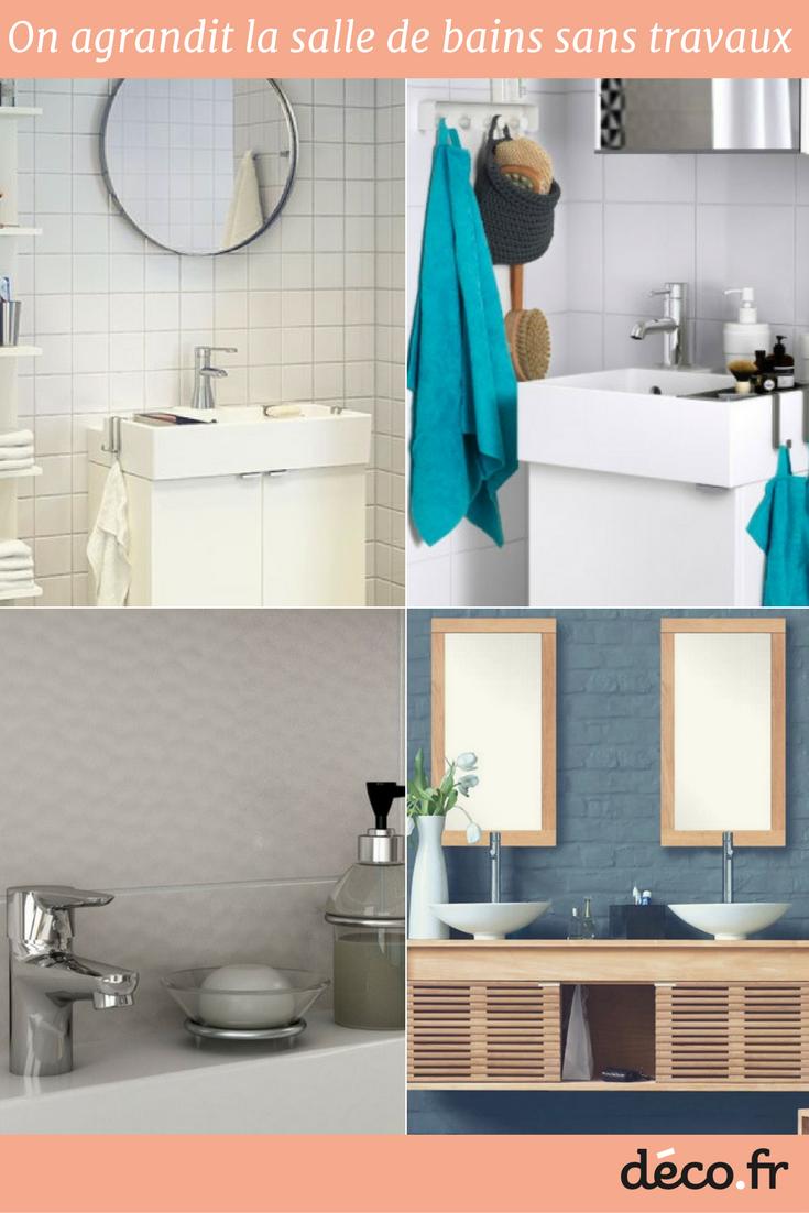 Comment agrandir visuellement une petite salle de bains