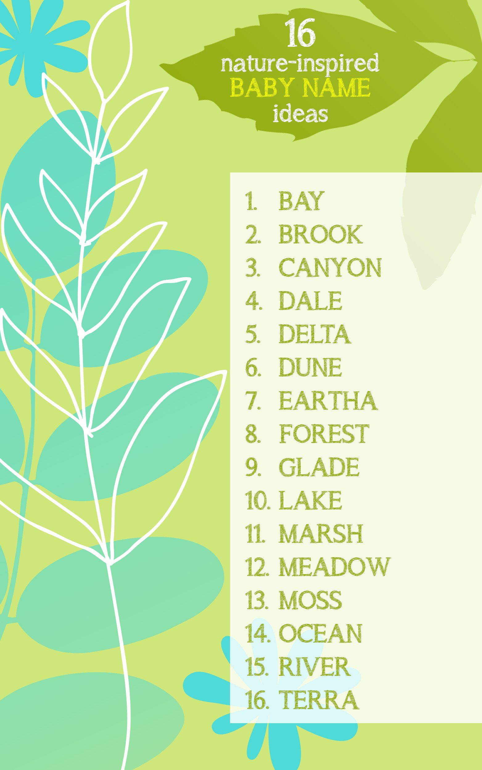 16 nature inspired baby names for Earth Day would you use one