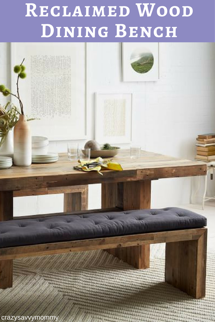 Superb Reclaimed Wood Dining Bench. Made From Unfinished Reclaimed Pine Certified  To Forest Stewardship Council ®