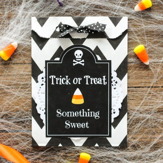 FREE Halloween Treat Bag Printable Make your own treat or tick - halloween treat bag ideas
