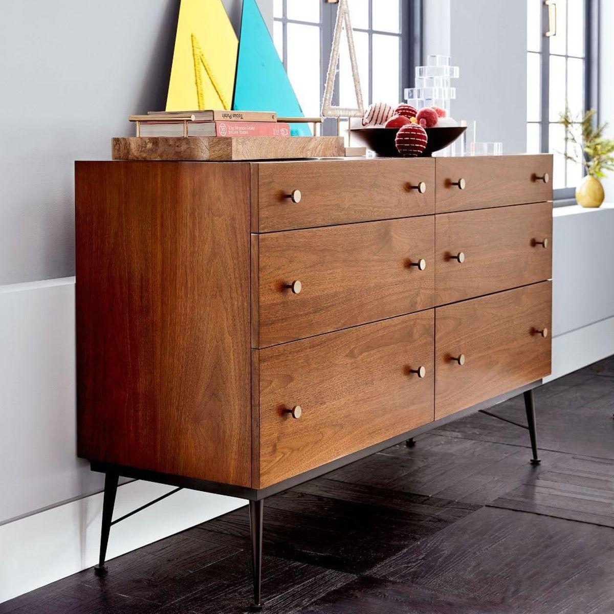 Paulson mid century 6 drawer chest