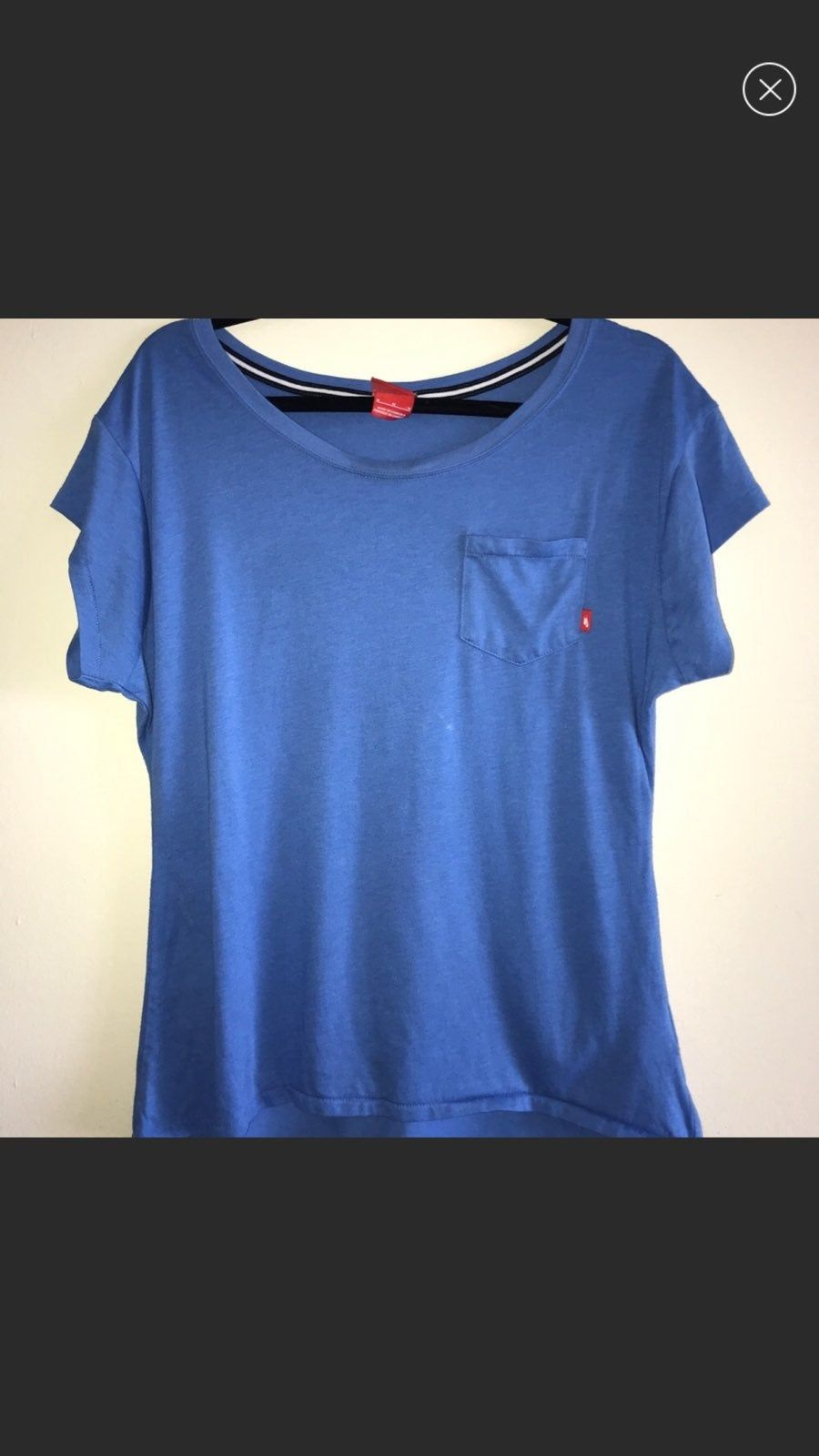 Vintage Light Blue Nike Shirt With Front Pocket Size Medium Blue Nike Shirts