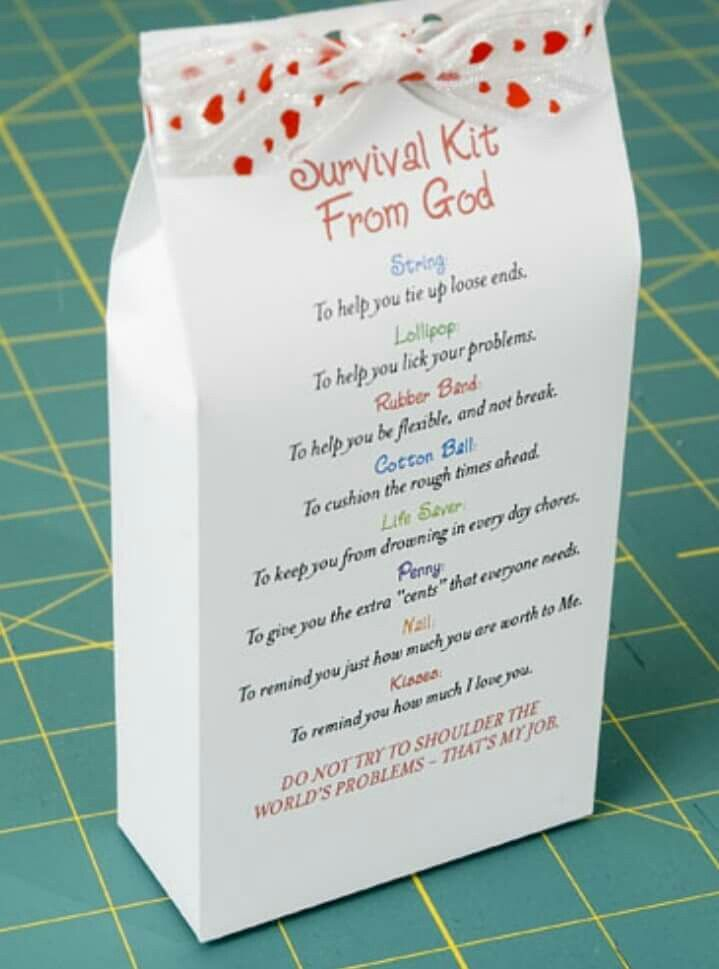 Survival Kit for Friends A fun and unique gift you can make to show - birthday invitation wording no gifts donation