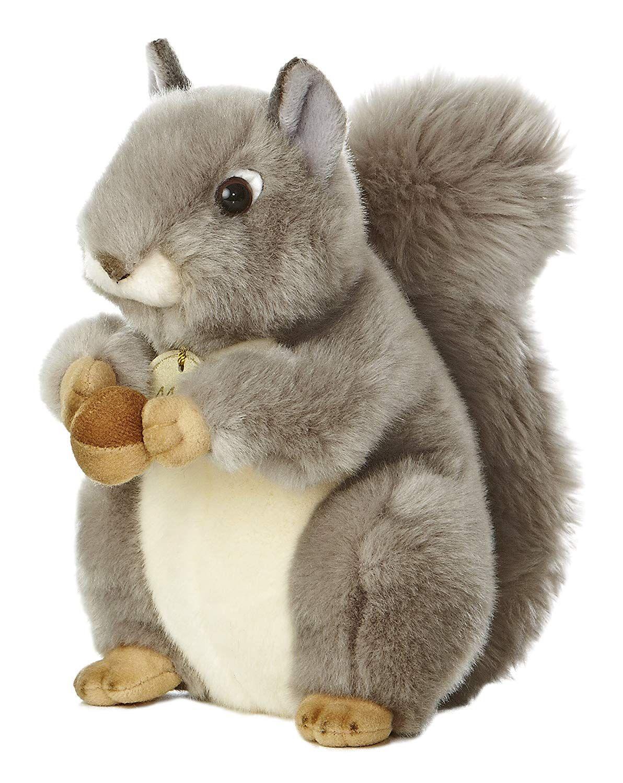 Nutsie The Brown Squirrel Aurora Plush Stuffed Animal Toy Cute Cuddly 8 Inches