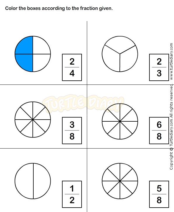 math worksheet : fractions worksheet 6  math worksheets  grade 1 worksheets  : Fractions Worksheets Grade 1