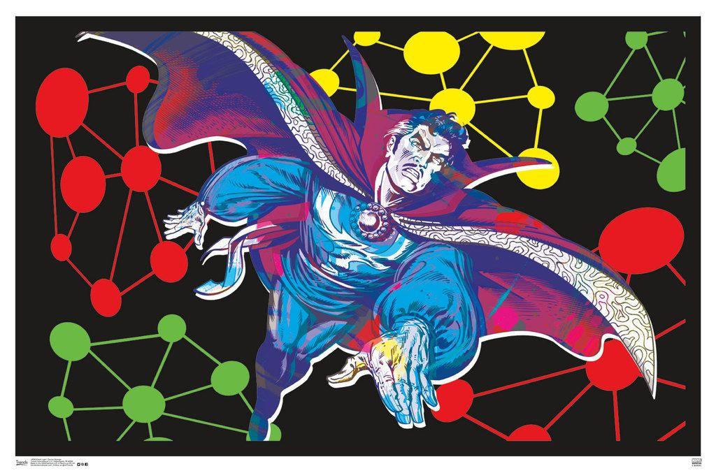 Doctor Strange Comic Book Art Blacklight Poster 22x34 - Poster Foundry