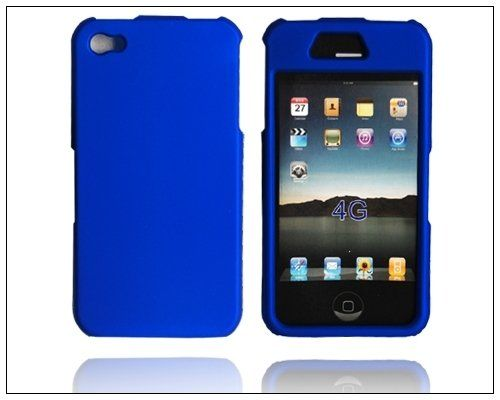 Best-selling Rubber Case Cover for Apple iPhone 4 4G Blue R3 QH $4.99
