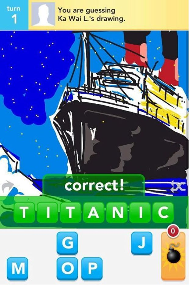 App Solutely Amazing Draw Something App Sold For 113m After Just Seven Weeks Draw Something Draw Titanic Drawing