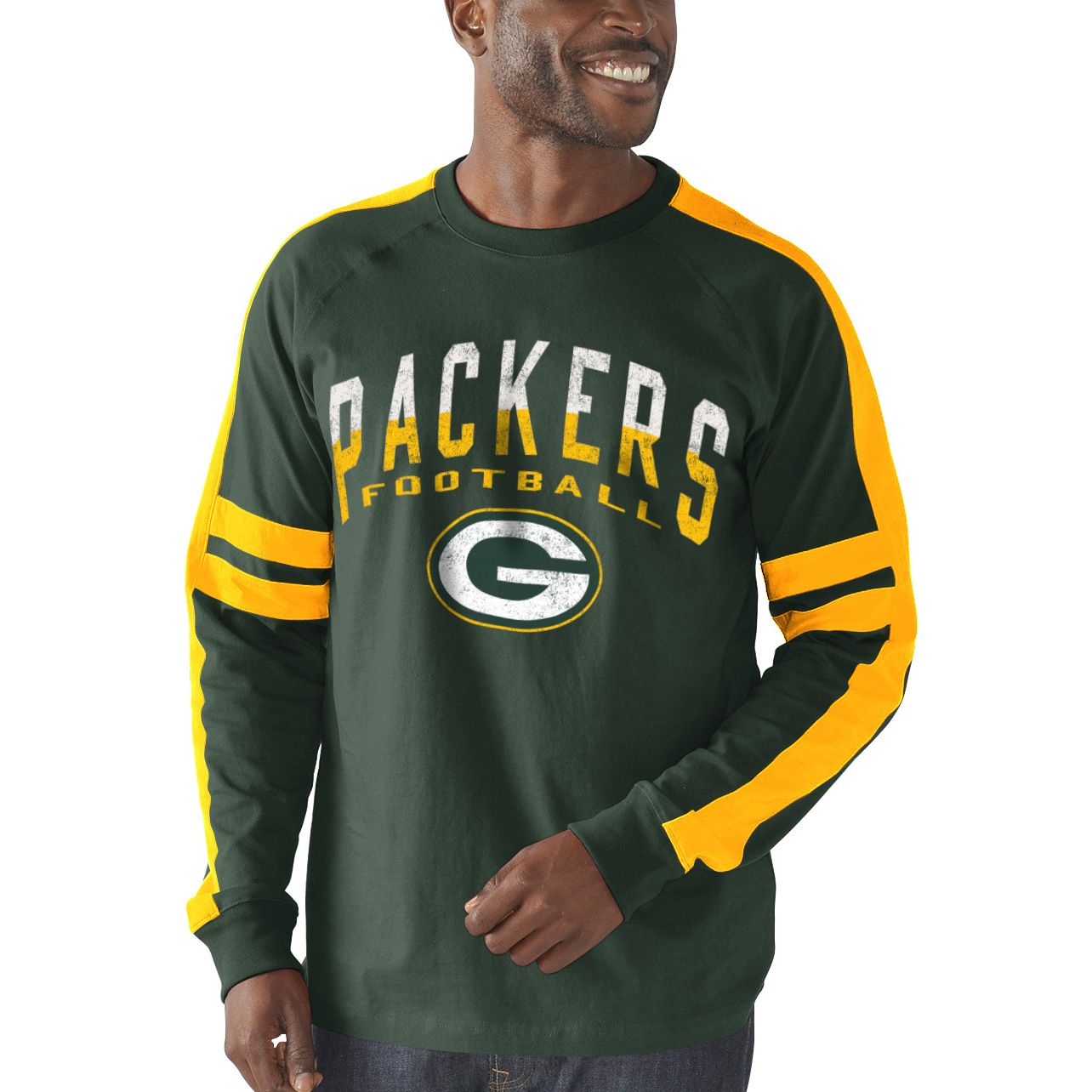 Nfl Green Bay Packers G Iii Sports By Carl Banks Arena Jersey Fashion Long Sleeve T Shirt Gree Jersey Fashion Steelers T Shirts Long Sleeve Tshirt Men