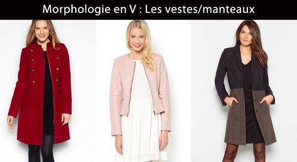 conseil manteau d'hiver pour morphologie femme en v