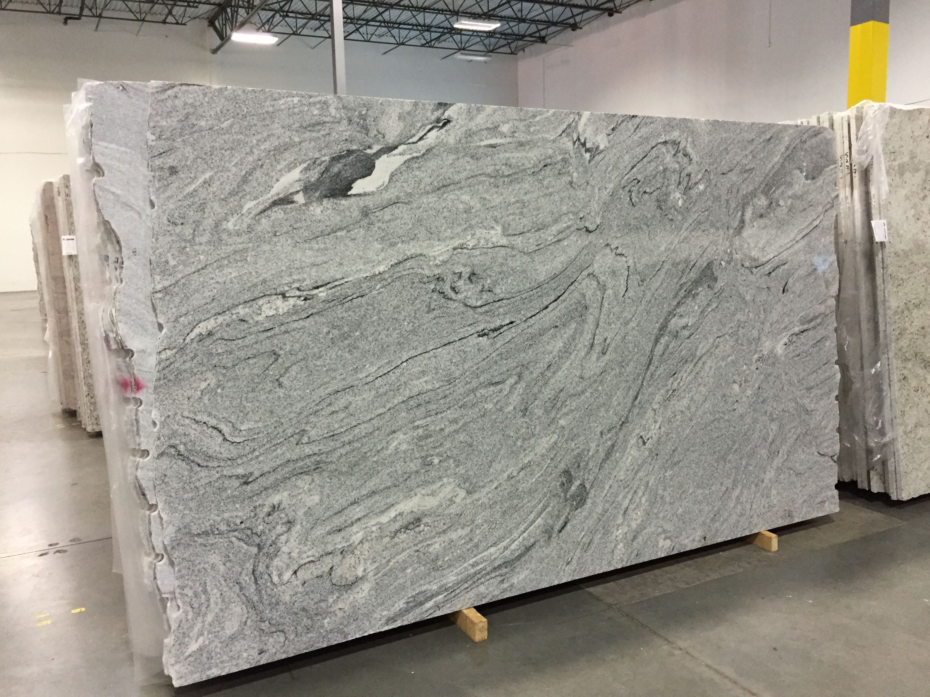 Our Viscont White Granite Slabs Made In Italy More Pictures To Follow Will Have Ebony Wood Floors An White Granite Slabs White Granite White Granite Kitchen