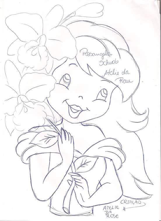 Riscos De Bonecas Coisas Para Desenhar Desenhos Em Caderno De