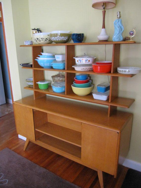 Mid Century Heywood Wakefield room divider for kitchendining