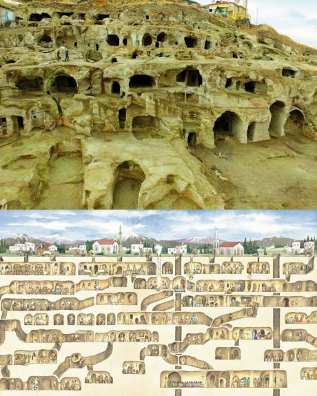 Derinkuyu Is The Largest Excavated Underground City Which Could