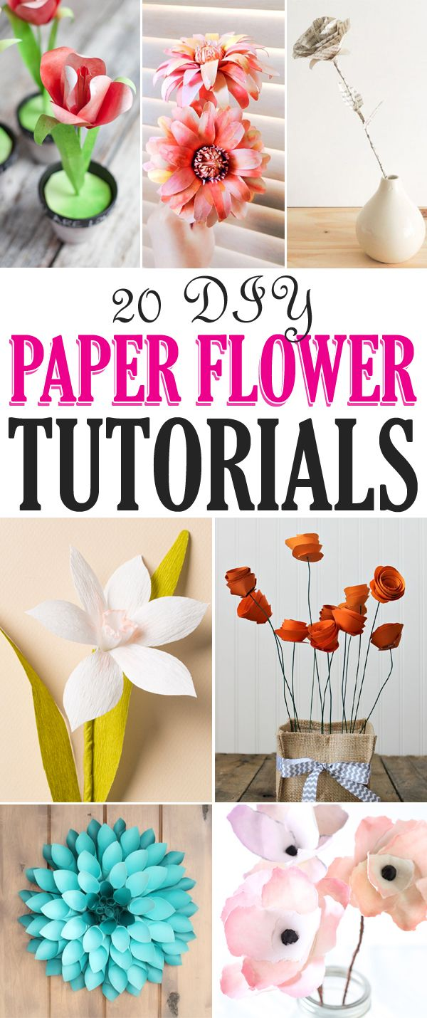 20 Stunning Diy Paper Flower Tutorials Paper Flower Tutorial