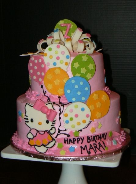 Super cute for a little girls bday cake Cakes Pinterest