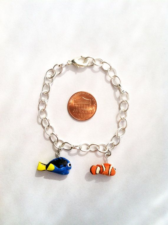 Finding Nemo Inspired Clay Charm Bracelet by aWishUponACharm, $10.00