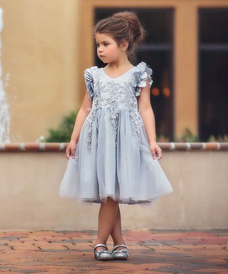 6e3ac0e72 Trish Scully Child Silver Bianca Dress - Infant, Toddler & Girls | zulily