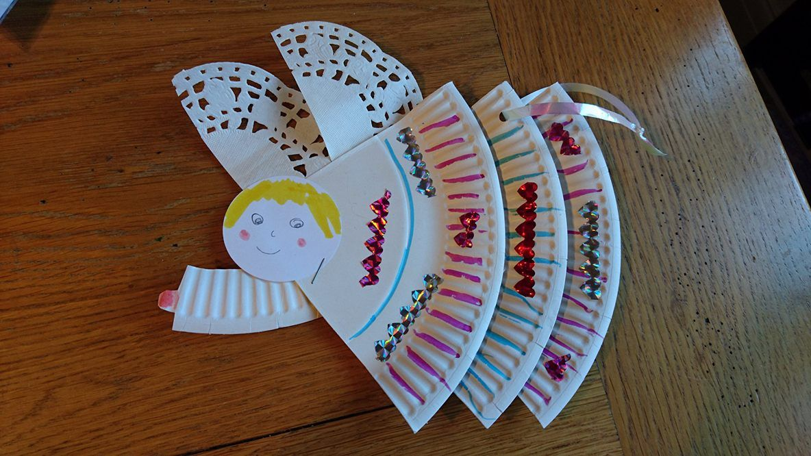Christmas angels paper plate craft. & Christmas angels paper plate craft. | Sunday School Craft ...