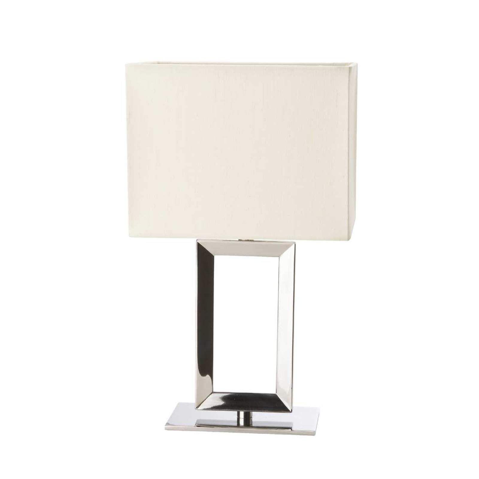Moderne Nachttischleuchte Pad Von Sompex Silber Tischleuchte