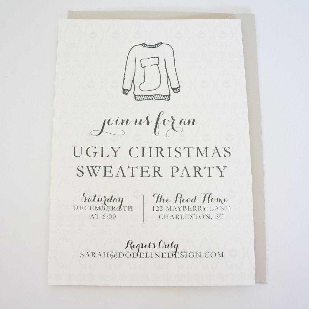 Ugly Sweater Party Invitation Holiday Christmas Party Invite shop