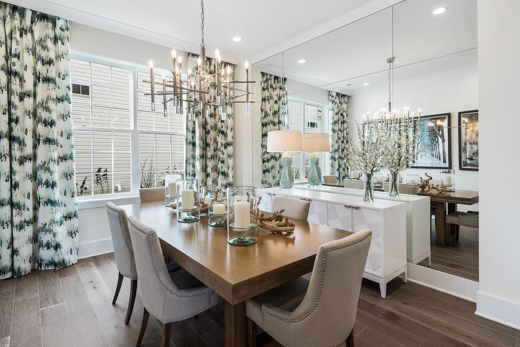 Be A Winner At Dinner With This Charming Dining Space From Enclave At Ocean Hammond Model Home In Ocean Township Nj Neutral Dining Room Home House Design