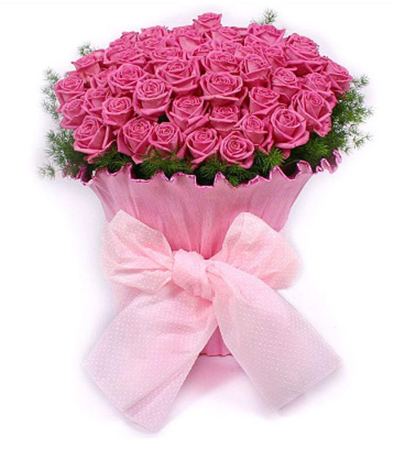 50 Pink Roses Indoor Plants In Uae Order Flower Online Anniversary Wedding Flowers