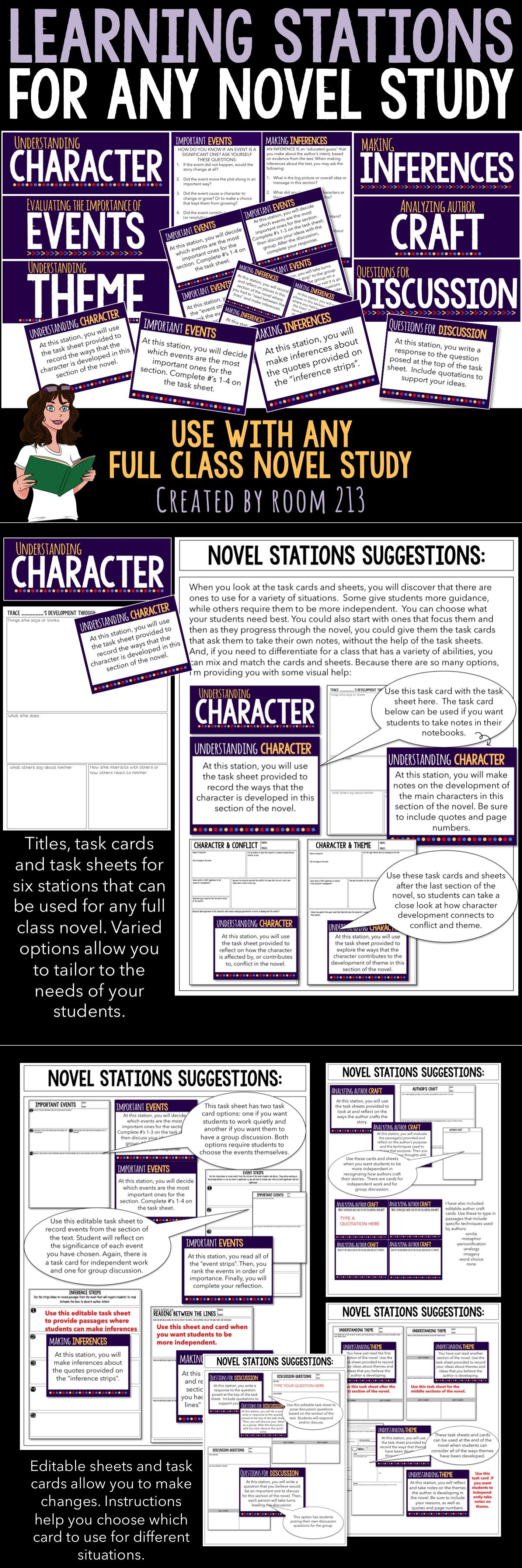 Novel Chapter Worksheet
