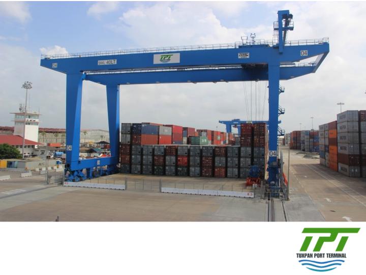 LA MEJOR TERMINAL PORTUARIA DE MÉXICO. Durante la primera fase, Tuxpan Port Terminal contará con 4 grúas STS Super Post Panamax y 8 grúas ASC's para manejo especializado de contenedores, además de un área para maniobras de almacén que tendrá una superficie de 5,000 metros cuadrados y que contará con equipo especializado para manejo de acero y carga general.  #tpt