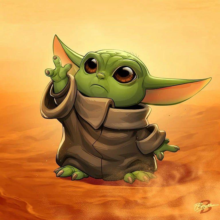 Baby Yoda by Patrick Brown via Instagram