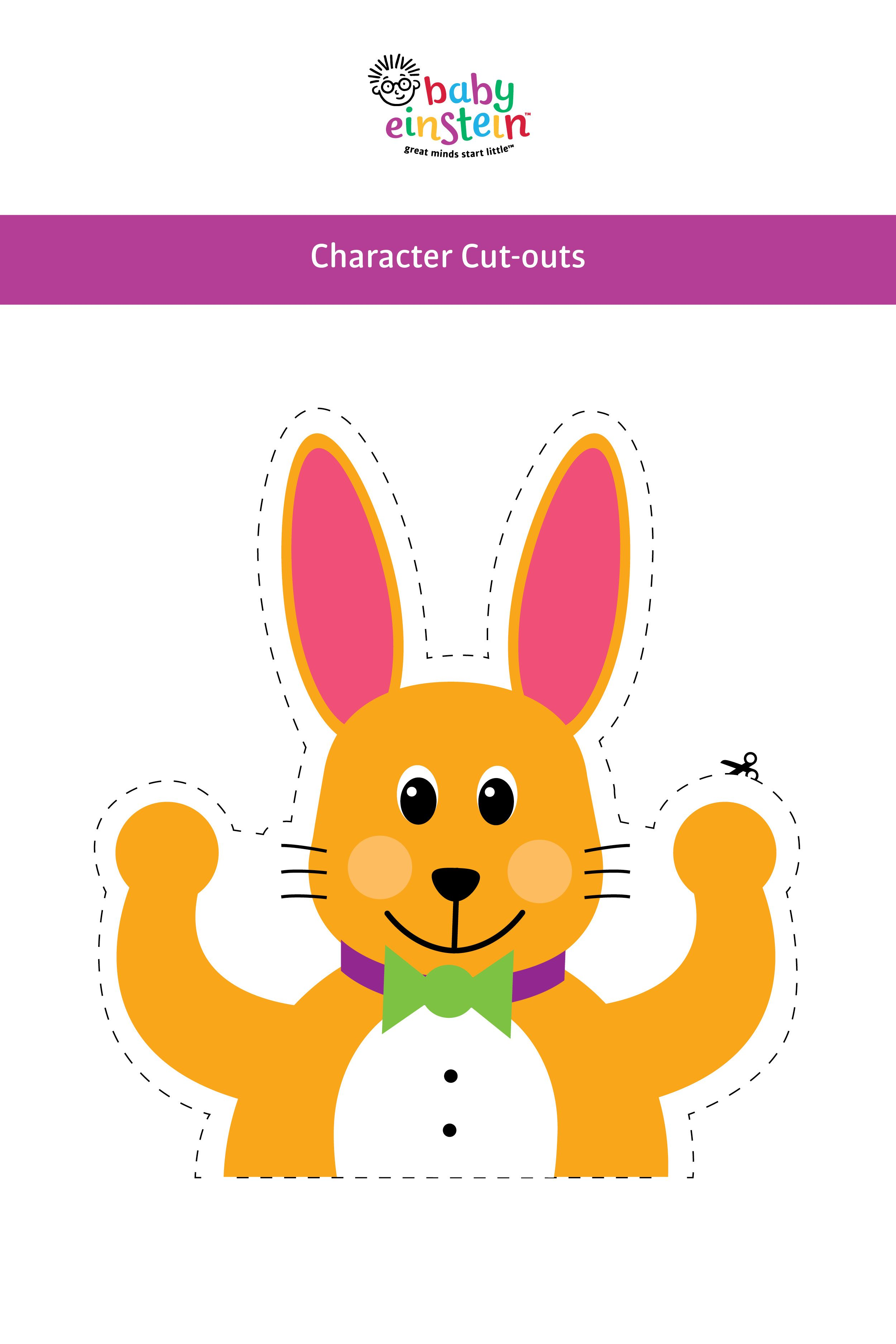 FREE Baby Einstein Character Cut Outs Use Them To Make Adorable Themed Goodie Bags For Your Guests Decorate Walls Balloons Or As Photo Props