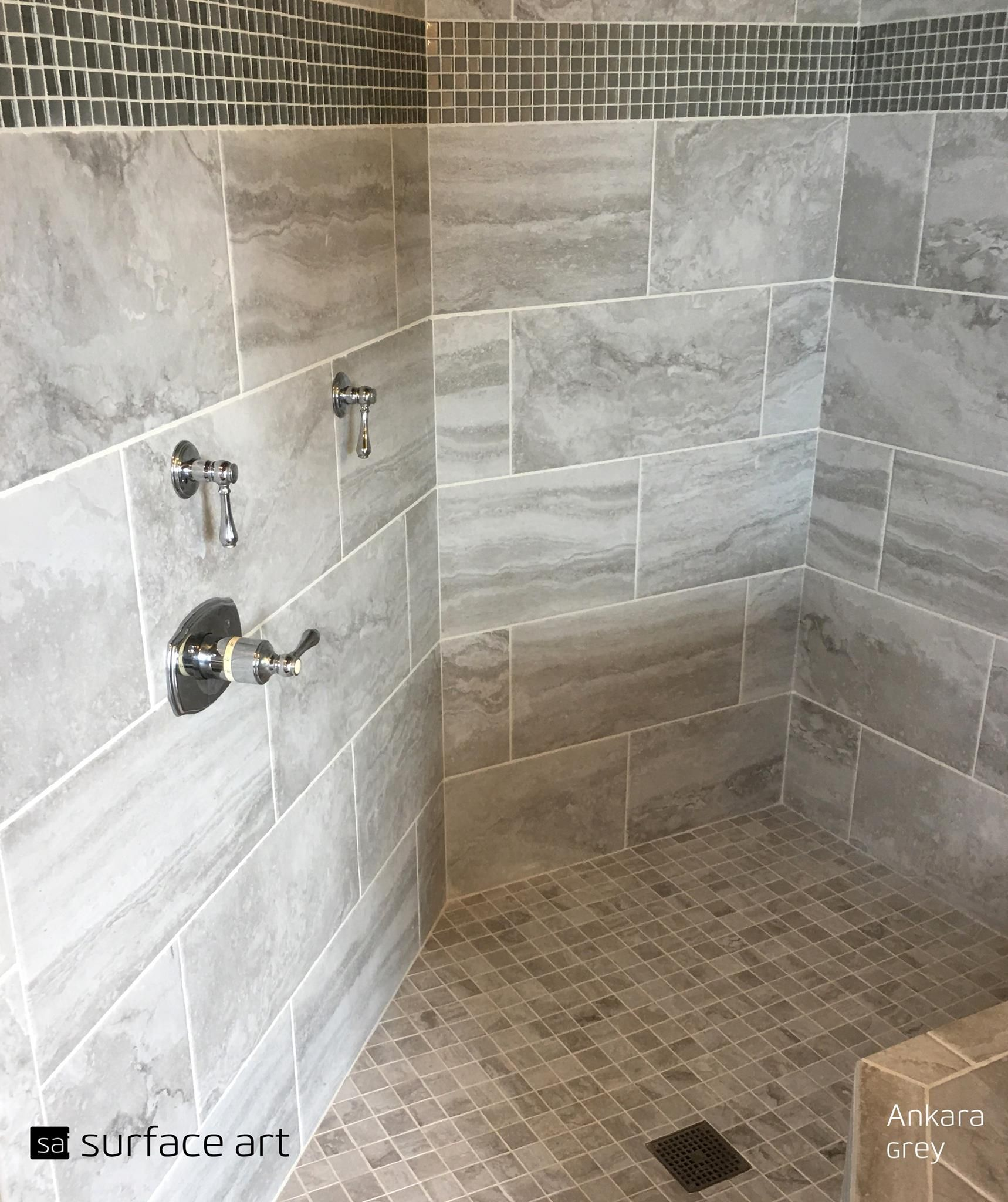 Step Into Tranquility With This Gorgeous Ankara Grey Shower Tile This Beautiful Needs To Be Shown Off Thanks Gary Johnson Floor Covering For Sha Small Bathroom