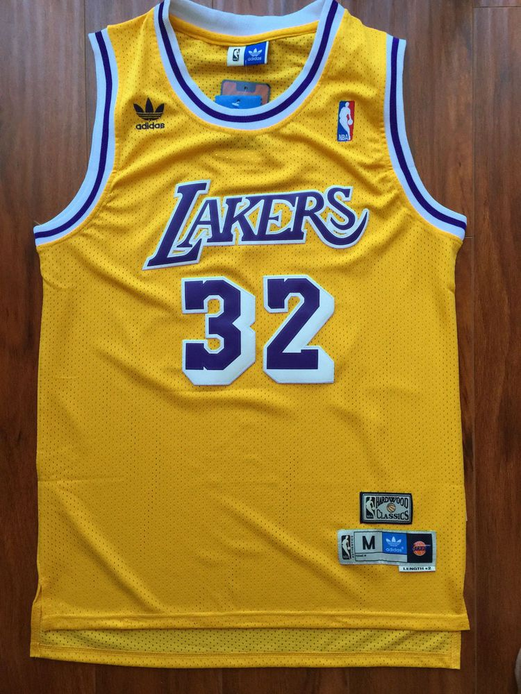 best website 540b8 2f6b6 NBA Los Angeles Lakers Magic Johnson Classic Swingman Sewn ...