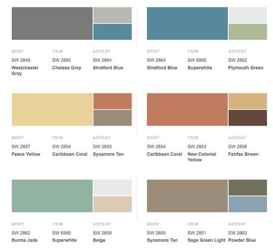 Retro 1950s Historical Shades Of Exterior Paint Colors Fr House