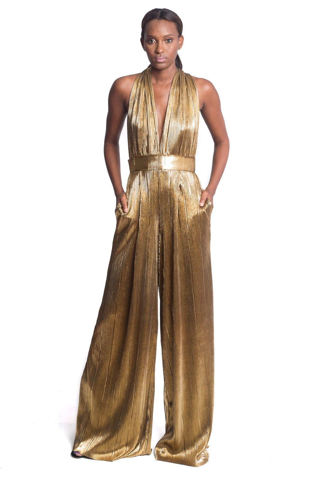 854c5f4a7f12 Limited Edition Beverly Gold Jumpsuit (50% Down Payment $214 ...