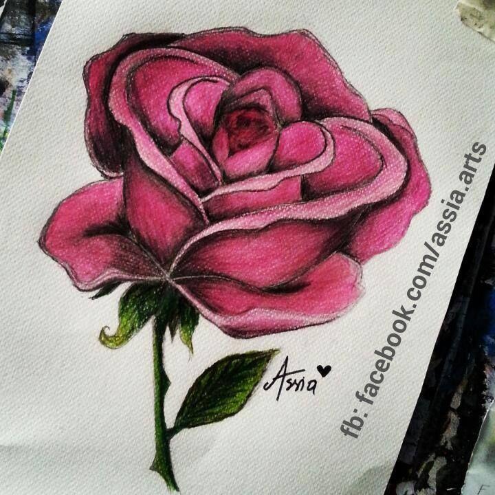 رسم وردة Flower Tattoo Arts And Crafts Tattoos