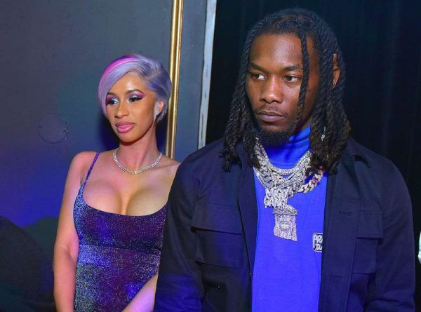 Cardi B Reveals Huge Offset Tattoo Of Husband S Name On: Cardi B And Offset Doing Stuffs Again At Super Bowl Party