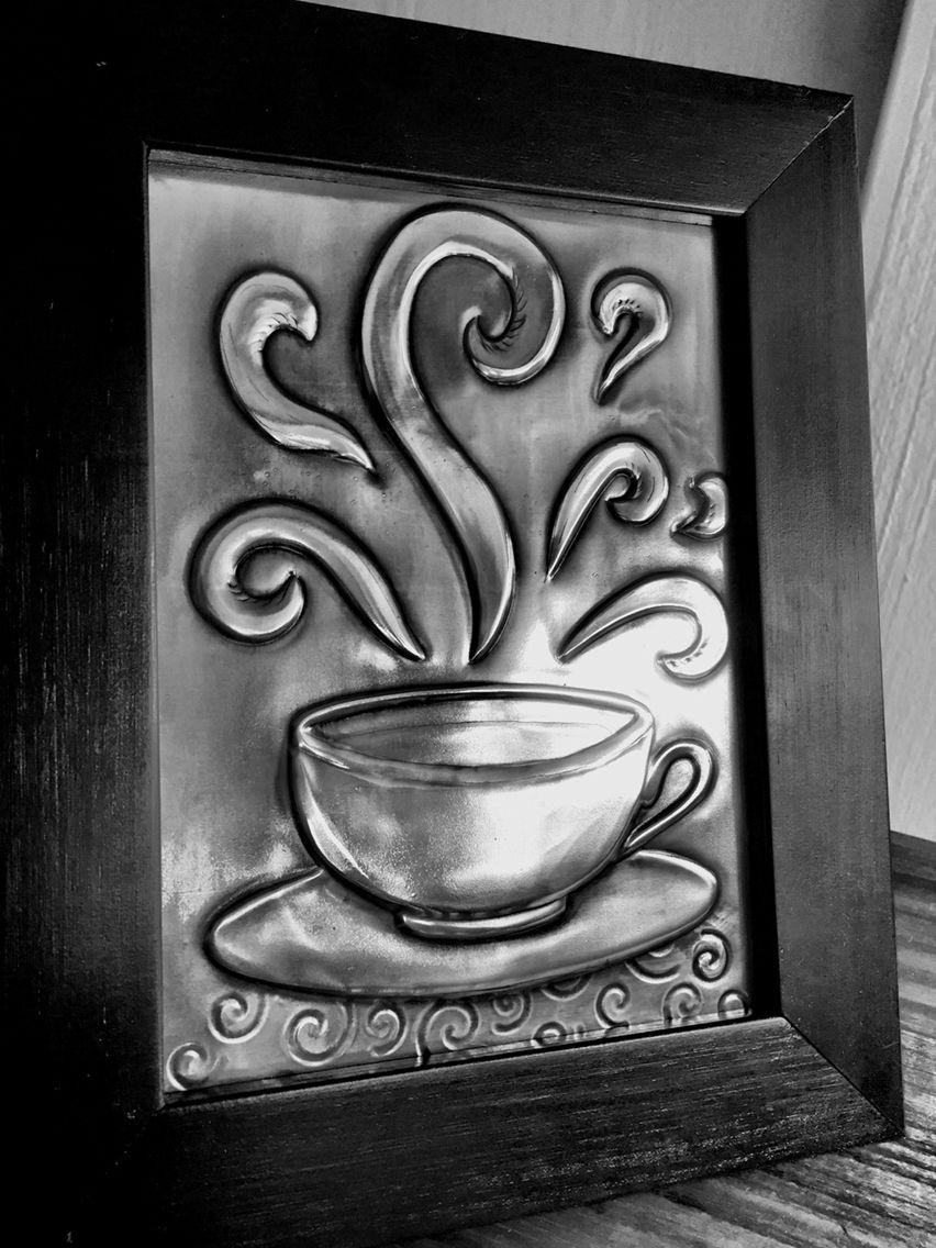 Pewter Cup Arte Con Papel De Aluminio Repujado En Metal Lamina De Aluminio